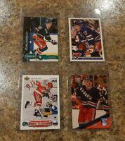 (4) Alexei Kovalev 1991-92 Upper Deck Rookie RC 1992-93 Parkhurst Leaf card lot