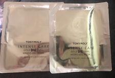 Lot Of 2 Brand New Tonymoly Intense Care Snail Gold 24k Hydrogel Masks 1.6 oz.