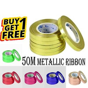 5O METER Balloon Curling Ribbon String Baloons 5 mm Tie metallic Balloon UK