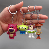 4pcs / Lot Toy 4 Story Action Figure Doll Pixar Alien Woody keychain Gift  Toys