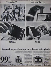 PUBLICITÉ DE PRESSE 1966 POLAROÏD APPAREIL PHOTOS - ADVERTISING