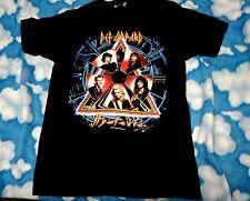Vtg 1988 DEF LEPPARD Hysteria Tour t shirt tee concert  L large 1980's 80's top