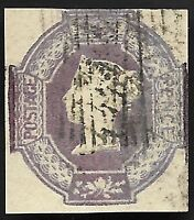 1854 QV SG58 6d Mauve 4 Margins Embossed Good Used CV £1000+