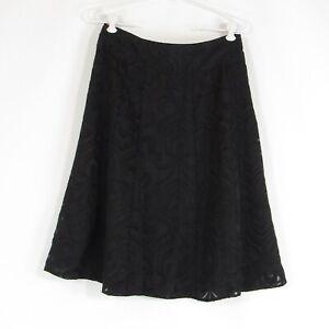 Black geometric HAROLD'S A-line sheer overlay skirt 4
