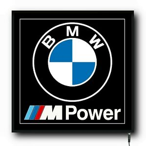 BMW M POWER LED WALL LIGHT UP SIGN LOGO GARAGE AUTOMOBILIA M3 M4 M5 M6 SPORT
