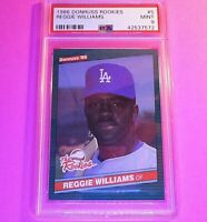 1986 Donruss Rookies #5 Reggie Williams RC Graded PSA 9 MINT Rookie,  SET BREAK