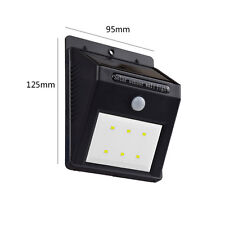 Solar Light 6 Ultra Bright Fence Wall Motion Sensor 3.7V Lithium Battery Special