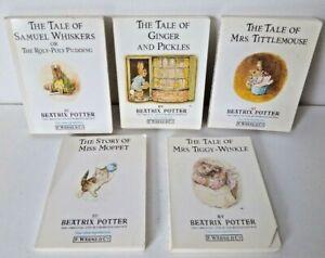 Vintage 5 x Miniature Mini Beatrix Potter Books Samuel Whiskers/Ginger & Pickles