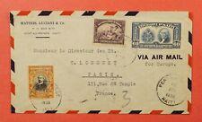 1939 HAITI PORT AU PRINCE AIRMAIL TO FRANCE