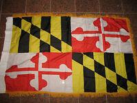 3x5 Maryland State Poly Nylon Sleeve w/ Gold Fringe Flag 3'x5' Banner