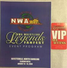NWA WRESTLING LEGENDS FANFEST SIGNED PROGRAM! 11 SIGNATURES! + VIP PASS