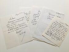 Michel CIRY - Bel ensemble de 5 lettres autographes signées