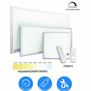 6300 LM 60W LED Flat Panel Light Troffer CCT Color Dimmable T-Bar Ceiling