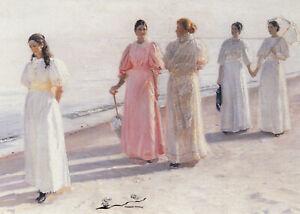 Postkarte: Michael Ancher - Frauen am Meer