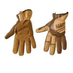 Klein Tools 40226 Journeyman Leather Utility Gloves, Medium