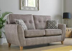 Maya 3 Seater Fabric Sofa Settee Upholstered In Wheat