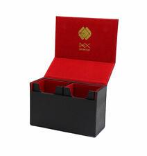 Black Dex Protection Dualist High Quality Duel Compartment Card Deck Storage Box