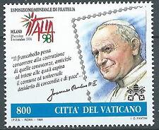 1998 VATICANO CONGIUNTA ITALIA PAPA PAOLO GIOVANNI II MNH ** - ED