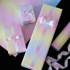 Rainbow Gradient Gift Wrapping Paper Sheets DIY Holiday Birthday Wrap Decorative