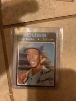 1971 Topps Ernie Banks Chicago Cubs #525 Baseball Card