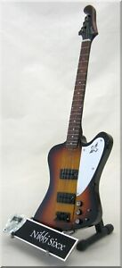 NIKKI SIXX Miniature Guitar Bass Motley Crue Thunderbird w/ Guitar Pick
