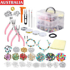 DIY Jewelry Making Supplies Kit Beads Charms Necklace Bracelet Repair Tools