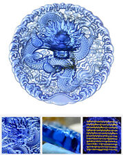 MANTRA OF DRAGON MASTERS WATER ELEMENT!  TIBET BLESSED GLAZE FENGSHUI MEDALLION