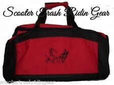 TEAM ROPING ROPER RED Small/Medium Duffle Bag rodeo horse NEW steer PERSONALIZED