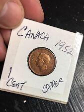 King George VI 1952 Canada 1 Cent Coin COPPER Circulated FS