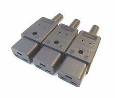 Conector de alimentación IEC C19 16a para cables de red 16a de alta potencia por Martin Kaiser X 3