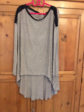 Twisted Muse Size Medium 12 14 16 Grey Oversized TOP Dip Low Back Hem
