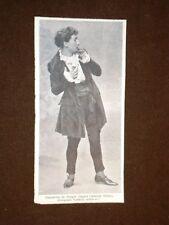 Attore di Teatro nel 1905 Gabriele Steno in Simonetto de Sangro