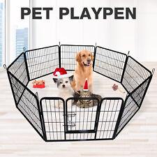 "Adjustable 32"" 8 Panel Heavy Duty Pet Playpen Dog Exercise Pen Enclosure Fence"