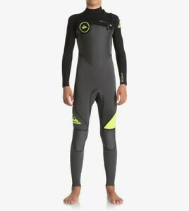 QUIKSILVER Youth 4/3 SYNCRO PLUS Chest-Zip Wetsuit - XKKG - Size 10 - NWT