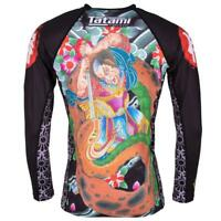 Tatami Japan Samurai BJJ Rash Guard Long Sleeve Mens Jiu Jitsu MMA Compression