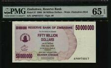 2008 Zimbabwe 50 Million Dollars PMG65 EPQ GEM UNC  <P-57>