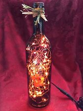 NEW Bling Electric LIGHTS LAMP Empty NAKED MOUNTAIN WINE BOTTLE Purple LEDs