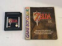 The Legend of Zelda: Link's Awakening DX (Game Boy Color, 1999) and Manual