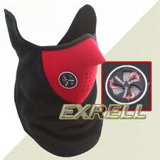 Maschera Sottocasco Rosso Elastica Tessuto Neoprene Unisex Ciclismo Bici Moto