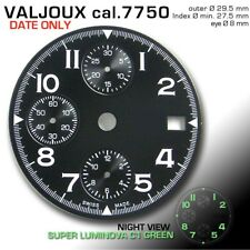 DIAL FOR MOVEMENT ETA VALJOUX 7750, Ø 29.5 mm, DATE ONLY, BLACK