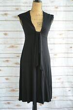 Michael Stars - BLACK Soft rayon stretch sundress V-neck, One Size