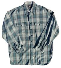RRL Ralph Lauren Vintage Shadow Plaid Cotton Work Shirt Size L Double RL flannel