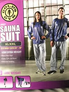 "Gold's Gym Sauna Suit Pants Only (size XL-XXL for 42""-50"" waist) Gray"