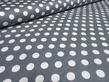 Stoff Baumwolle Popeline 9 mm Punkte Pünktchen Druck grau weiß Kinderstoff