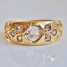 Fine Antique Victorian 18ct Gold Rose-cut Diamond Ring (0.40cts) c1891; Size 'P'