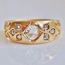 Fine Antique Victorian 18ct Gold Rose-cut Diamond Ring (0.40cts) c1891; Size 'P'
