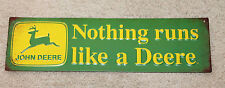 Nothing Runs Like a Deere Vintage Style Metal Signs John Deere Farm Equipment