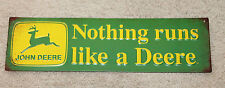Nothing Runs Like a Deere Vintage Style Metal Signs John Deere Farm Equipment