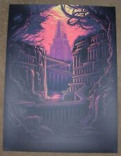 DAN MUMFORD poster art print HANGING GARDENS OF BABYLON seven ancient wonders