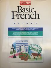 Berlitz Basic French Deluxe Boxed Set 5 Books + 4 Cassettes NEVER USED!